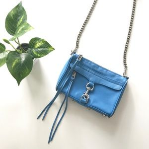 {rebecca minkoff} blue mini mac crossbody purse